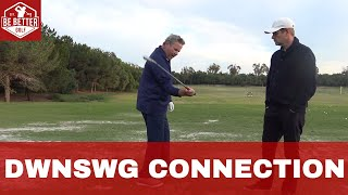 Download NEW! Monte Scheinblum DRILL! How to Stay connected on the DOWNSWING BE BETTER GOLF Video
