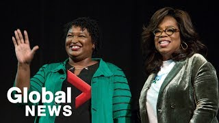 Download Oprah campaigns for Stacey Abrams in Marietta, Georgia Video