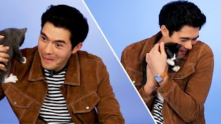 Download Henry Golding From Crazy Rich Asians Plays With Kittens (While Answering Fan Questions) Video