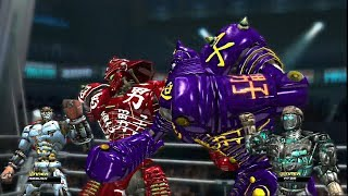 Download REAL STEEL THE VIDEO GAME [PS3/XBOX360]-THE ORIGINAL ROBOTS VS TWINS (ATOM , AMBUSH, NOISY BOY) Video