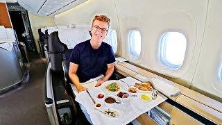 Download BEST FLIGHT EVER! Alone in Lufthansa First Class |747-8 |Frankfurt - Bangalore Video