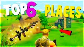 Download TOP 6 BEST Safe Places to Land for EASY WINS and LOOT (Fortnite Battle Royale) | Tips and Tricks Video