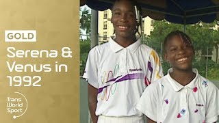 Download 11 and 12-year-old Venus & Serena Williams on Trans World Sport Video