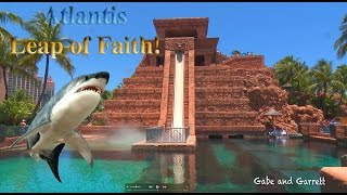 Download Atlantis Leap of Faith Water Slide - Gabe and Garrett Go To The Bahamas! Video