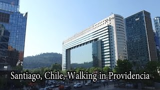 Download Santiago, Chile - Providencia, Walking to Costanera Center, the tallest building in South America Video