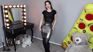 Download Alternative Fashion Try On: Metallic Skirt & Lace Bodysuit ❤️ Video