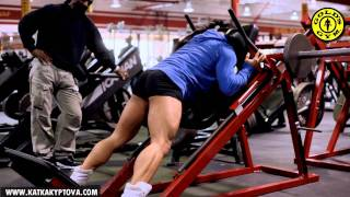 Download Charles Glass and Katka Kyptova - Legs workout Video