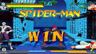 Download Marvel Super Heroes vs Street Fighter ~ Cyber Akuma & Armored Spider-man 【TAS】 Video