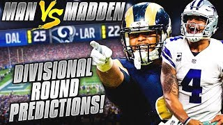 Download Predicting Every NFL Divisional Round Winner... IT'S LIT! DO YOU AGREE??? | Man vs Madden 2018 Video