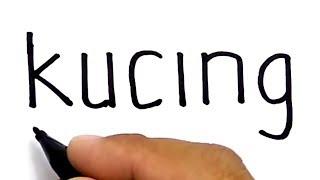 Download WOW, menggambar KUCING dengan kata kucing Video