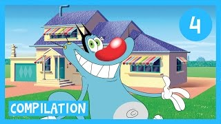 Download Oggy and the Cockroaches - Oggy's House Compilation 1H in HD Video