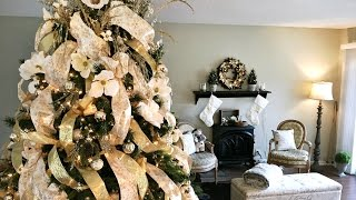 Download Golden Magnolia Christmas Tree - How To Decorate A Christmas Tree Video