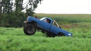 Download Big Blue Truck Mudding At Bliss Road Mud Bog Video