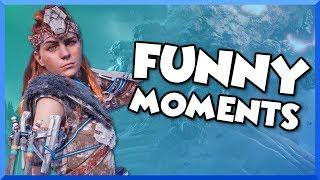 Download Horizon Zero Dawn: The Frozen Wilds Funny Moments - Daemonic Scorcher and Frozen Tallneck! Video