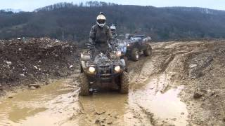 Download Kleine Trail fahrt mit Yamaha Grizzly 700 und Suzuki Kingquad 750 Video