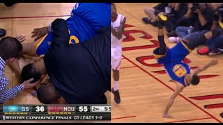 Download Stephen Curry's scary fall - head injury vs Rockets (Game 4) Video