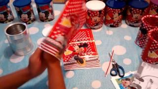 Download Preparativos aniversário tema Minnie. Lembrancinhas com latas de leite Video