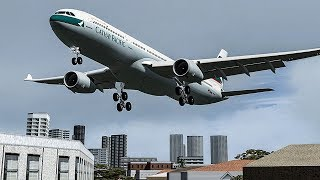 Download Terrifying Moments as Both Engines Failed on Approach to Hong Kong | Cathay Pacific Flight 780 Video
