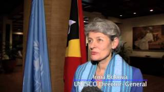 Download Irina Bokova Joins UN Chief for Global Education in Timor-Leste Video