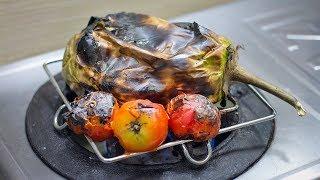 Download বেগুন টমেটোর পোড়া ভর্তা | গ্যাসের চুলায় পোড়া ভর্তা | Roasted Eggplant and Tomato Bhorta Video