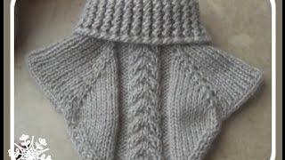Download Манишка спицами. Collar knitting Video
