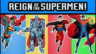 Download DC Comics DCUC Reign of Supermen Eradicator, Steel, Superboy, and Cyborg Superman Action Figures Video