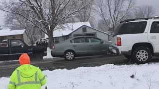Download Video Shows Car Pileups Allegedly Caused By Cable Guy's Carelessness Video