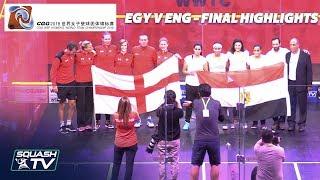 Download Squash: Egypt v England - Women's World Team Champs 2018 - Final Highlights Video