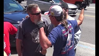 Download Anti-Trump Protesters VS Trump Supporters on Hollywood Blvd | FLECCAS TALKS Video