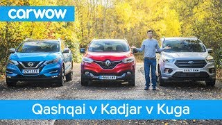 Download Nissan Qashqai vs Renault Kadjar vs Ford Kuga 2019 – See which is the best mid-size SUV Video