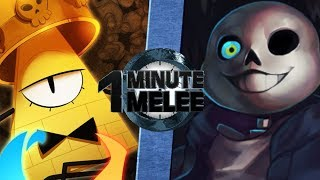 Download Bill Cipher vs Sans - One Minute Melee S5 EP10 Video