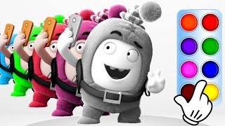 Download Learn Colors with Oddbods Newt - Learning Color Compilation for Baby Toddlers, Kids and Children Video
