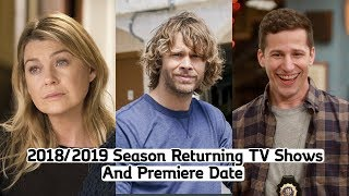 Download Returning TV Shows Season 2018-2019 (With Premiere Dates) Video