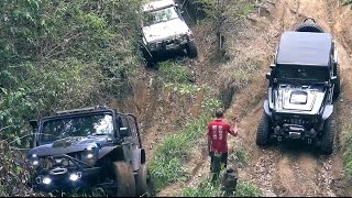 Download Modified Nissan Patrol, Jeep Wrangler and Land Rover defender offroading 4x4 Part 1 Video