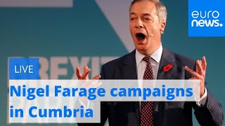 Download Brexit Party leader Nigel Farage campaigns in Cumbria | LIVE Video