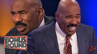 Download 10 FAMILY FEUD PODIUM ANSWERS & MOMENTS Steve Harvey Got Confused Or Laughed Over! Video