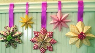 Download How to fold a flower decoration, floral party decor, origami Video