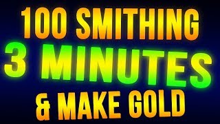 Download Skyrim Level 100 Smithing in 3 Minutes + Make Money FAST! Video