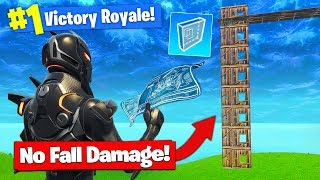 Download *NEW* NO FALL DAMAGE BUILD TRICK In Fortnite Battle Royale! Video