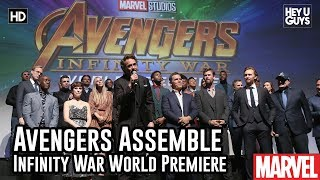 Download Avengers Assemble on Stage @ Infinity War World Premiere Video
