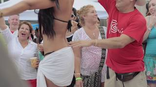 Download Guy grabs and touches bikini contestants all over Video