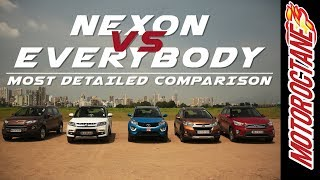 Download Tata Nexon vs Maruti Vitara Brezza vs Hyundai Creta vs Honda WRV Vs Ford EcoSport in Hindi Video