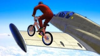Download RIDING THE WING OF A PLANE! (GTA 5 Funny Moments) Video