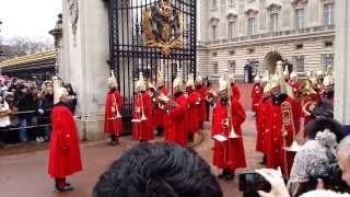 Download Changing the Guard at Buckingham Palace, London Video