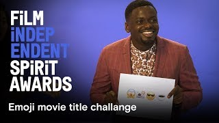 Download Nominees guess emoji movie titles | Daniel Kaluuya, Kumail Nanjiani, Sean Baker | 2018 Spirit Awards Video