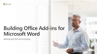 Download Build Office add ins for Microsoft Word Video