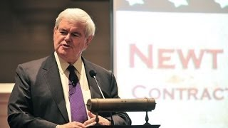 Download Newt Gingrich schools two college students Video