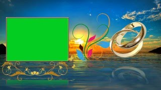 Download Beautiful Wedding Animation Background Video Cool Green Screen Effects Video