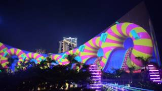 Download Hong Kong Pulse 3D Light Show 20160806 Cultural Centre Side Video