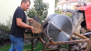 Download EXTREME Automatic Firewood Processing Machine, Homemade Modern Wood Cutting Chainsaw Machines Video